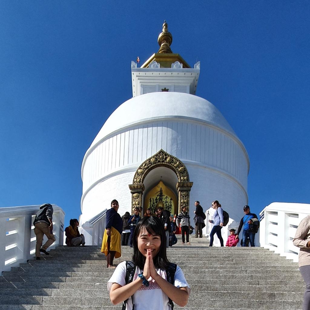日本山妙法寺 in pokhara